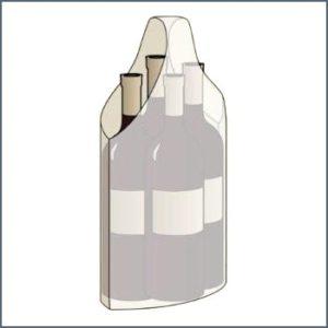Bolsas publicitarias para botellas Marmibax 4 botellas