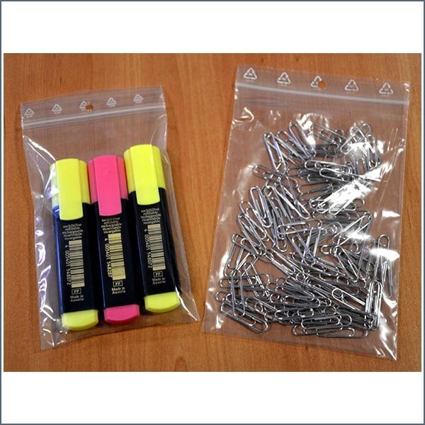 bolsas autocierre clip rotuladores y clips